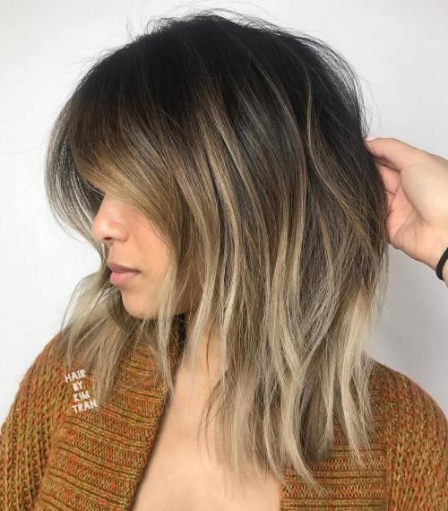 60 coiffures moyennes amusantes et flatteuses pour les femmes 5e414bffa9da0 - 60 coiffures coupe cheveux mi long amusantes et flatteuses pour les femmes
