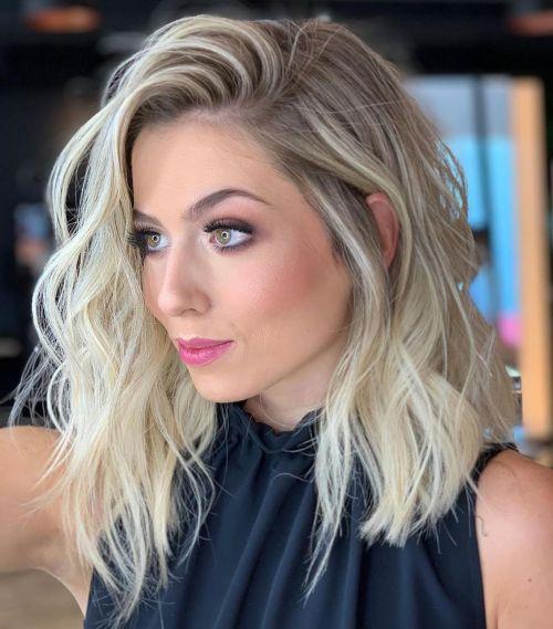 60 coiffures moyennes amusantes et flatteuses pour les femmes 5e414c0078188 - 60 coiffures coupe cheveux mi long amusantes et flatteuses pour les femmes