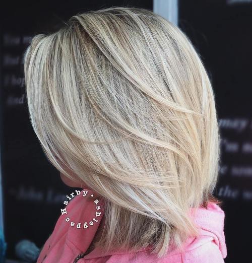60 coiffures moyennes amusantes et flatteuses pour les femmes 5e414c00e7bea - 60 coiffures coupe cheveux mi long amusantes et flatteuses pour les femmes
