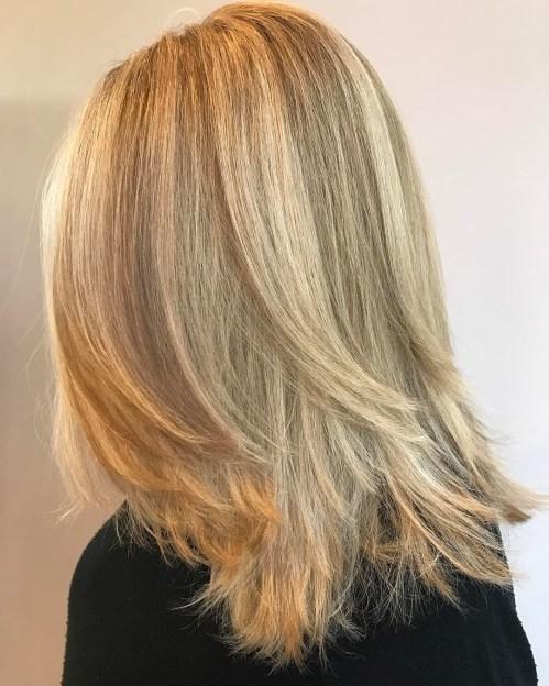 60 coiffures moyennes amusantes et flatteuses pour les femmes 5e414c02904a1 - 60 coiffures coupe cheveux mi long amusantes et flatteuses pour les femmes
