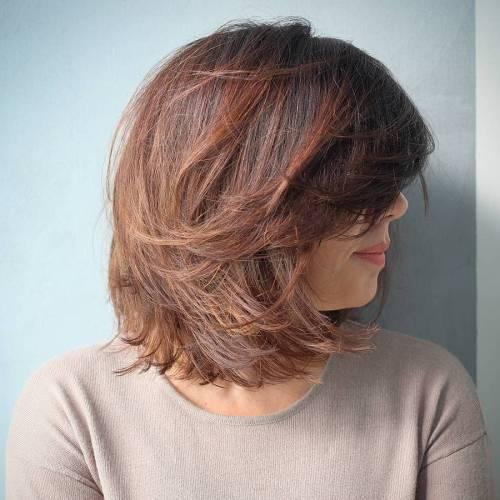 60 coiffures moyennes amusantes et flatteuses pour les femmes 5e414c05a66cd - 60 coiffures coupe cheveux mi long amusantes et flatteuses pour les femmes