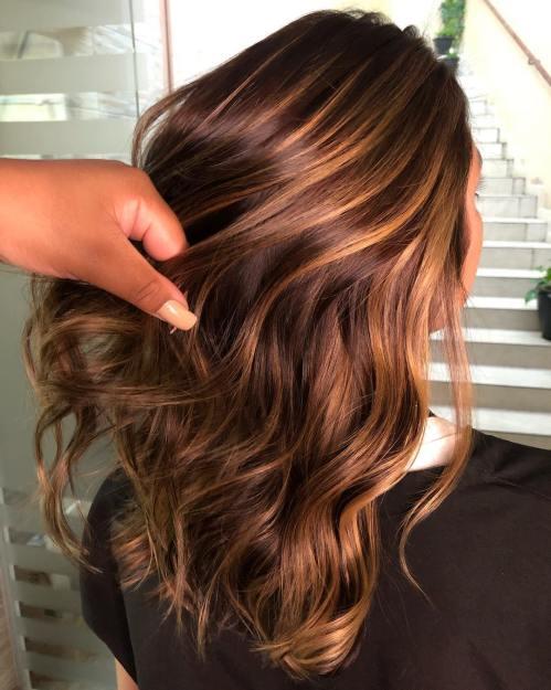 60 looks avec des reflets caramel sur les cheveux bruns et brun fonce 5e4281415d9e6 - 60 looks avec des reflets caramel sur les cheveux bruns et brun foncé