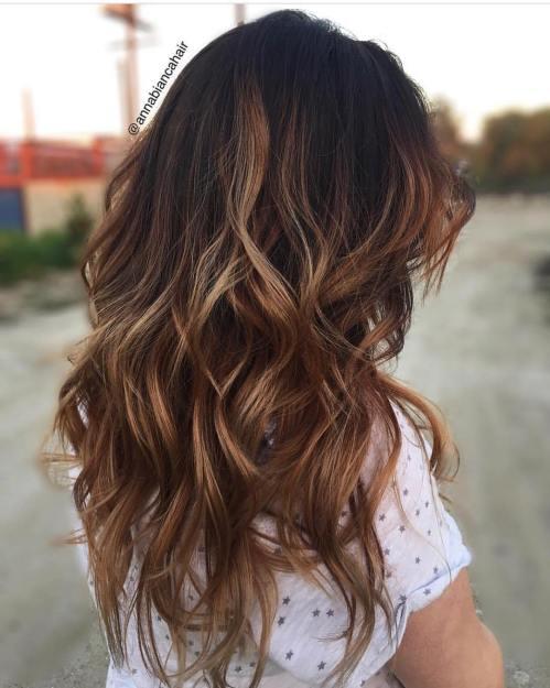 60 looks avec des reflets caramel sur les cheveux bruns et brun fonce 5e428141ccb12 - 60 looks avec des reflets caramel sur les cheveux bruns et brun foncé