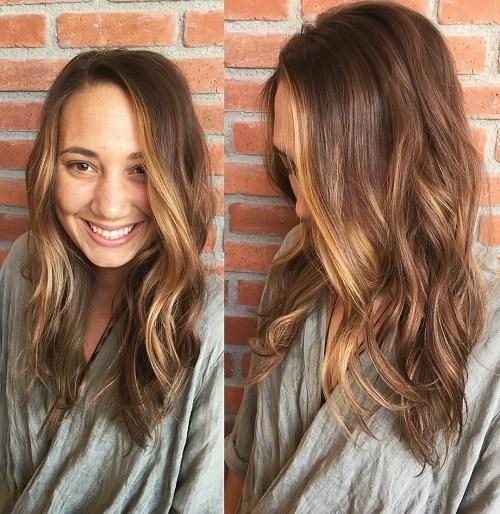 60 looks avec des reflets caramel sur les cheveux bruns et brun fonce 5e4281467bf37 - 60 looks avec des reflets caramel sur les cheveux bruns et brun foncé