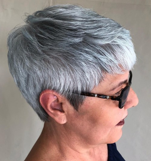 Tomboyish Gray And White Pixie