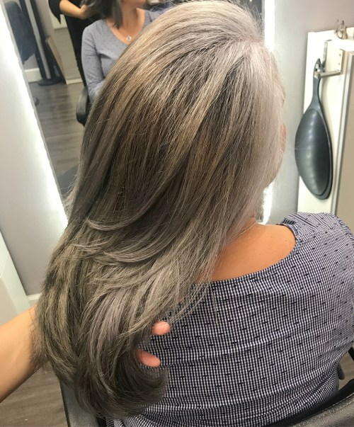 Ash Bronde Long Layered Hair