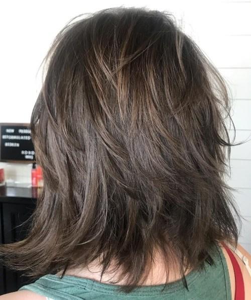 Feathered Shag For Straight Hair