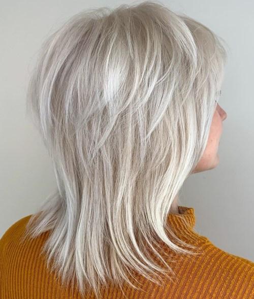 Medium Length Gray Shag