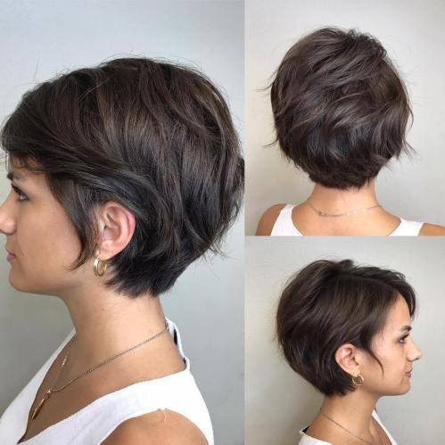 70 coiffures en couches courtes mignonnes et faciles a coiffer 5e4143487e298 - 70 coiffures en dégradé courtes mignonnes et faciles à coiffer