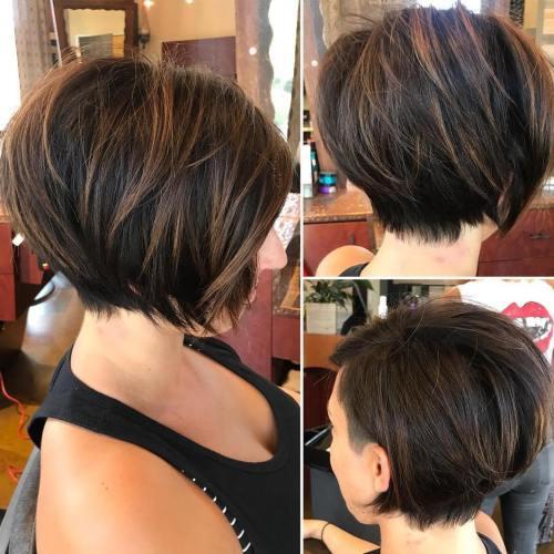 70 coiffures en couches courtes mignonnes et faciles a coiffer 5e41434b8beb7 - 70 coiffures en dégradé courtes mignonnes et faciles à coiffer