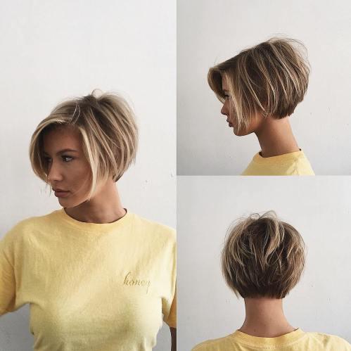 70 coiffures en couches courtes mignonnes et faciles a coiffer 5e41434c6c422 - 70 coiffures en dégradé courtes mignonnes et faciles à coiffer