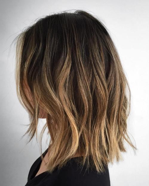 Medium Choppy Layered Hair