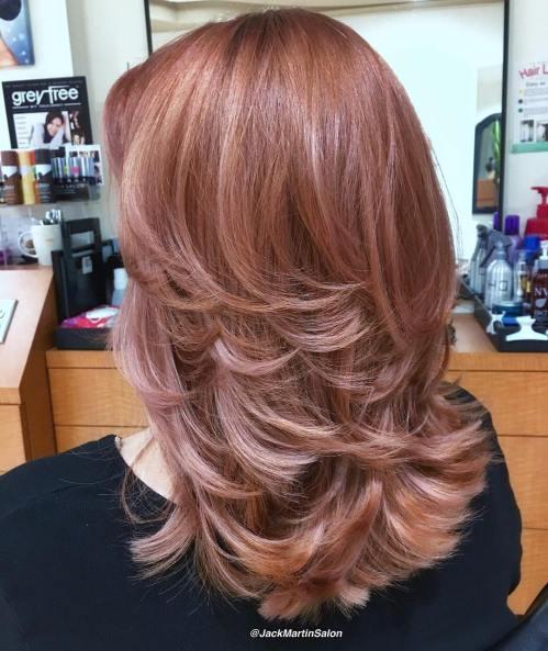 Medium Layered Rosewood Hair