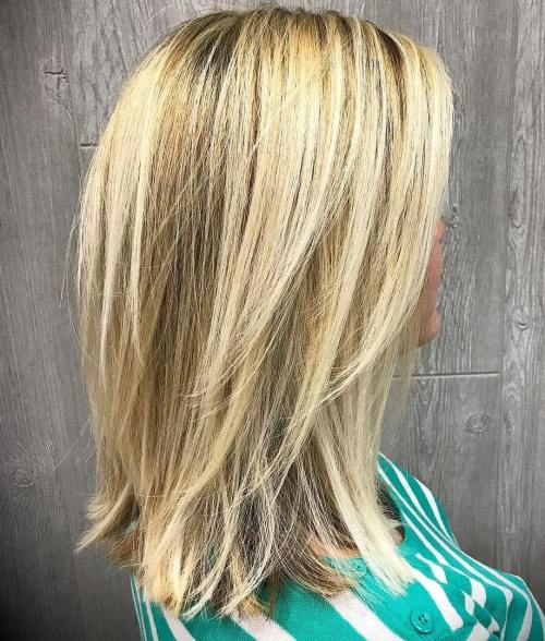 Blonde Lob With Long Layers