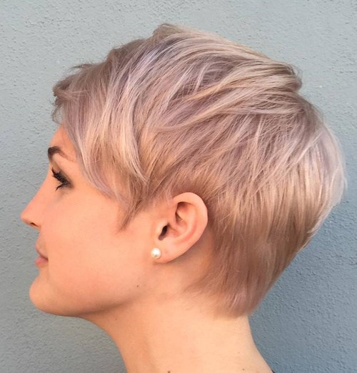 Blonde Layered Pixie Hairstyle