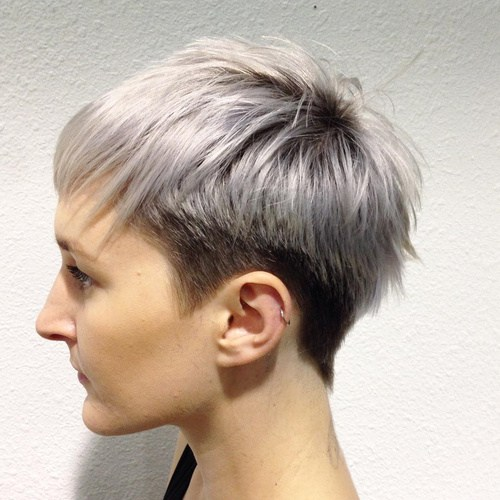 Two Tone Feathered Pixie