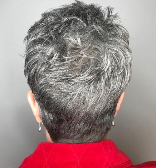 Short Choppy Cut For Women Over 50