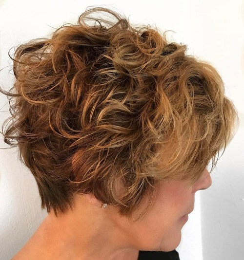 50+ Short Curly Hairstyle