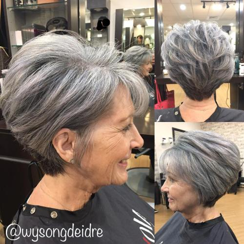 Gray Pixie Bob For Older Women