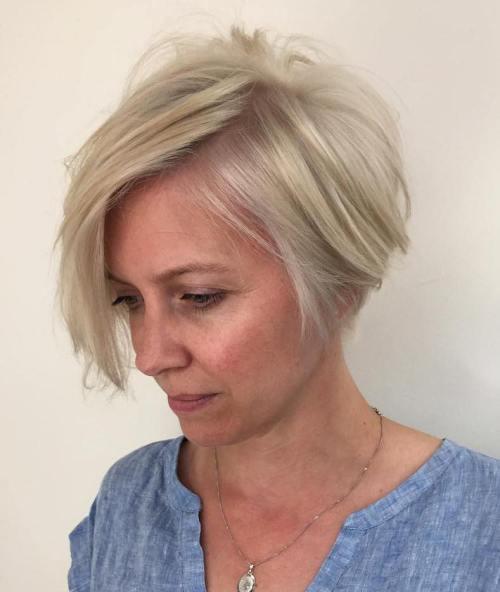 Ash Blonde Bob For Women Over 40