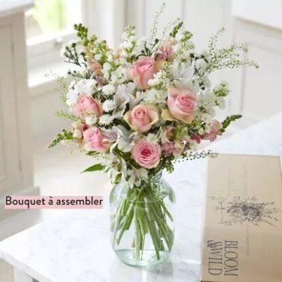 bouquet fleurs marcelle roses amour DIY e1585294829868 - Faites vous livrer un bouquet de fleurs à Paris!