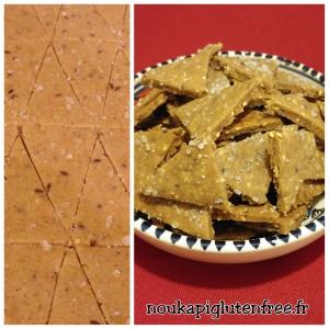 crakers graines sans gluten - Recettes sucrées salées Régimes sans gluten