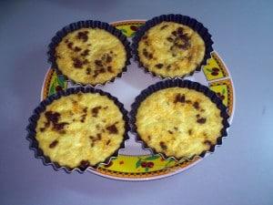 mini quiches sans gluten - Recettes sucrées salées Régimes sans gluten