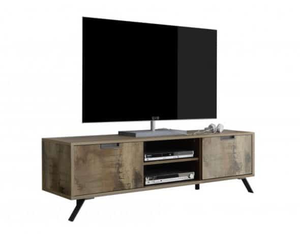 meuble tv contemporain indusctiel - Déco tendance salon - Comment décorer autour d'une TV?