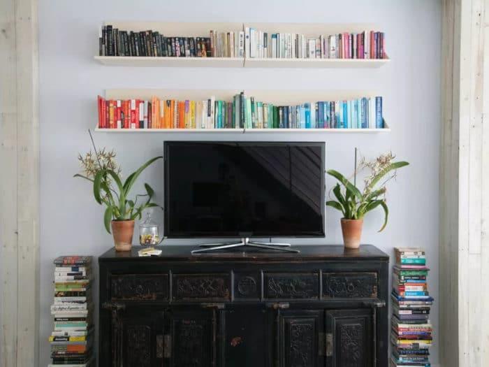 Déco tendance salon - Comment décorer autour d'une TV?