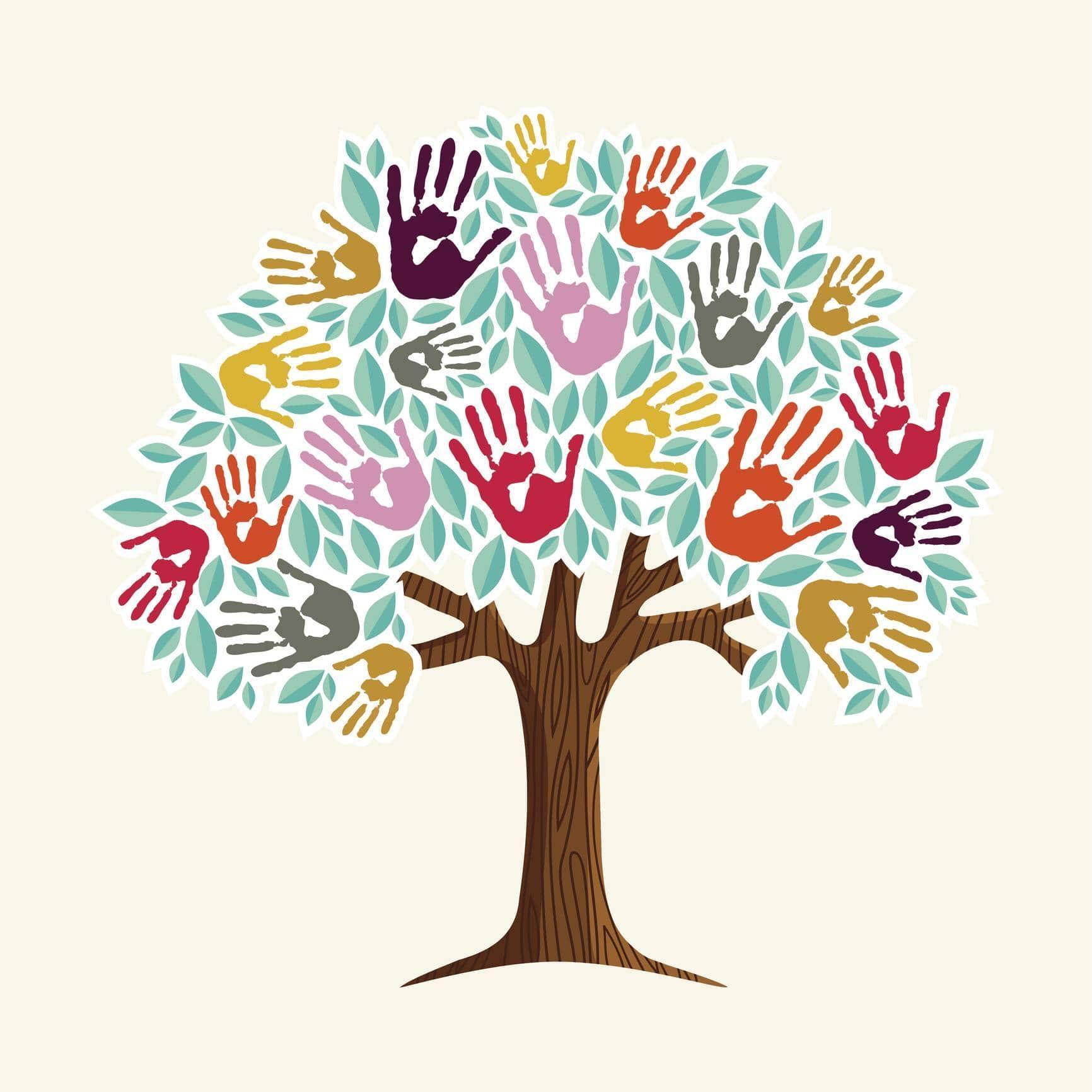 media representer empreintes famille - Un arbre à empreintes pour représenter la famille