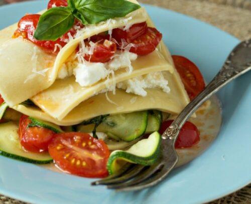 lasagne vegetarien 500x407 - Idées de recettes de lasagnes végétariennes cuites aux four