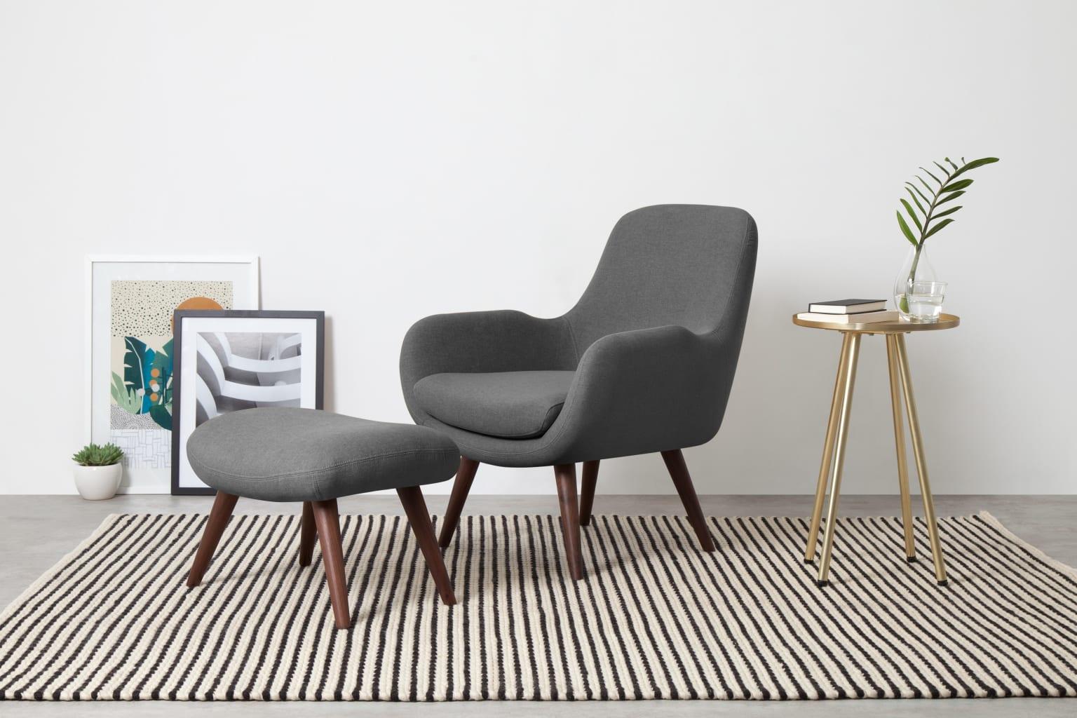Moby Accent Armchair and Footstool Marl Grey ar1 1 PL PS - Canapés design : des modèles tendances pour un salon élégant en 2021