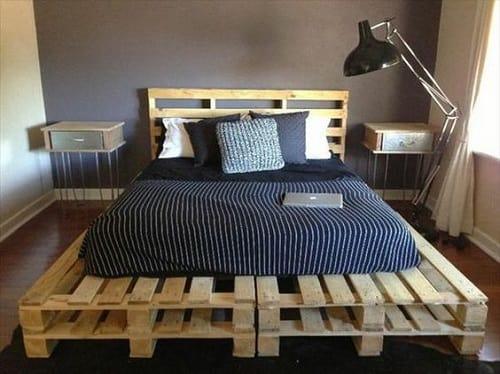 lit palette 602f8b7036b5d - Idées inspiration de chambre à coucher en palette de bois à essayer!