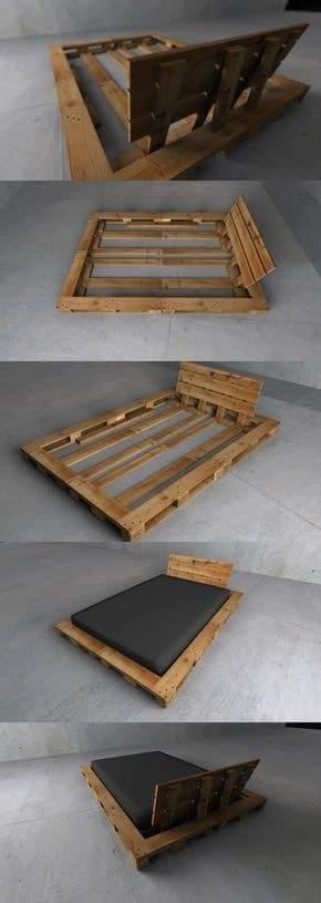 lit palette 602f8b70562e1 - Idées inspiration de chambre à coucher en palette de bois à essayer!