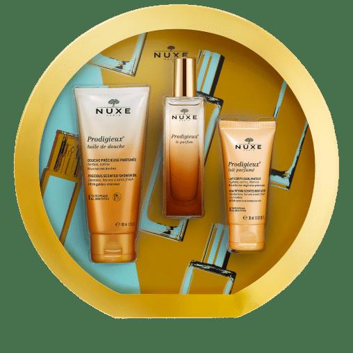 newfiche mobile 3264680023996 VNM01501 PANIER NUXE COFFRET Prodigieux le parfum 2020 - La marque Nuxe en 4 produits de beauté incontournables