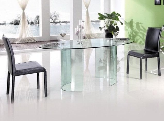 table a manger ovale verre transparent tara - 4 conseils simples pour choisir une table à manger tendance