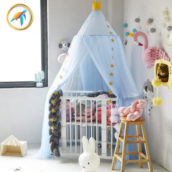 ciel lit bleu bebe piscine tortuga e1620634294516 - Installer un ciel de lit pour le confort et le bien-être de Bébé