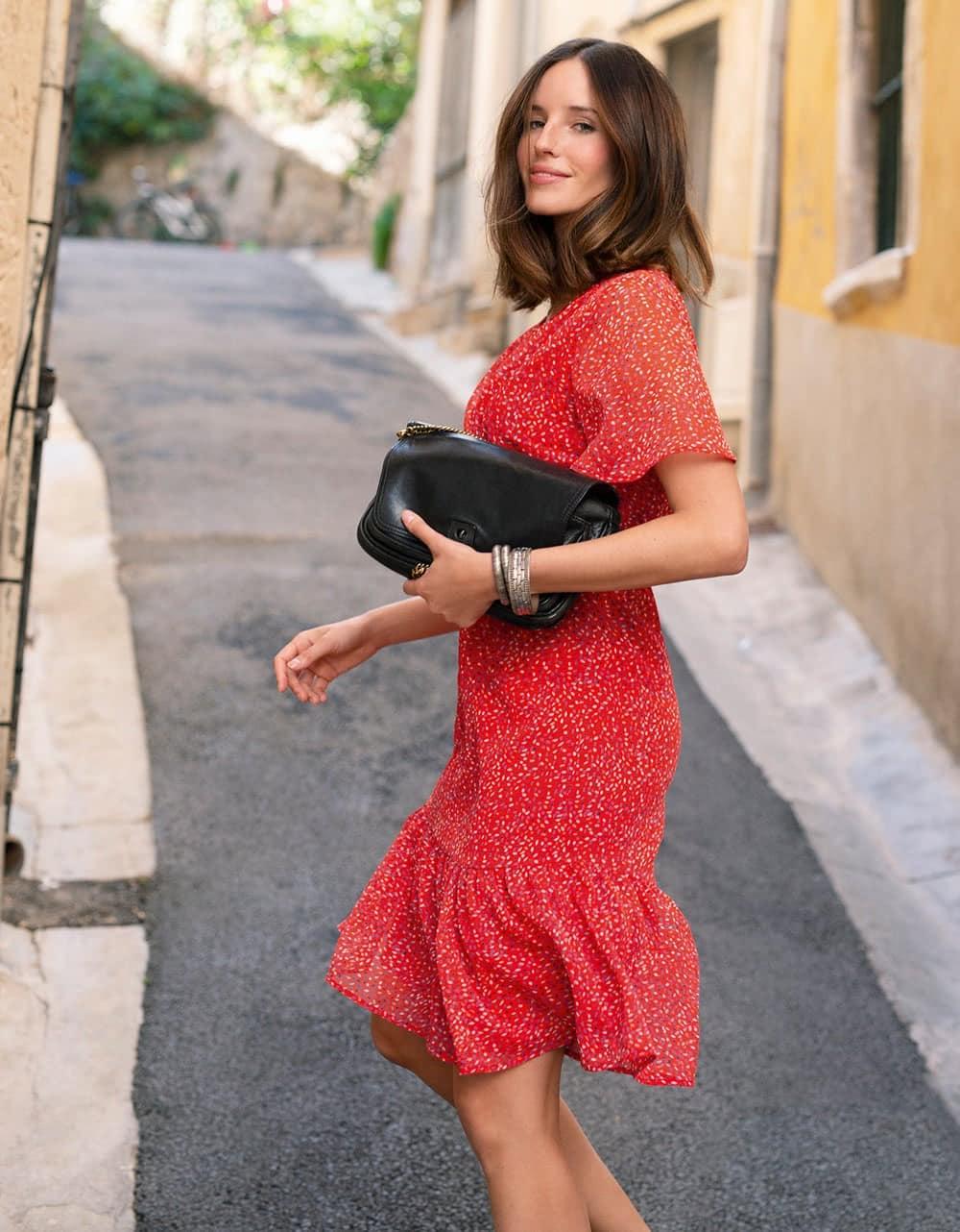 robe elegante voile rouge christina laure - Pour les beaux jours, soyez belle et chic avec une robe Christine Laure !